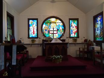 The Sanctuary at our church in Montville Twp.